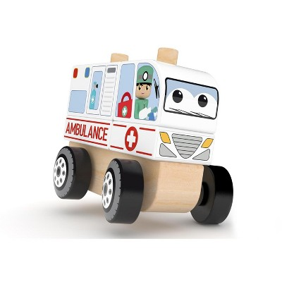 J'adore Ambulance Wooden Stacking Toy