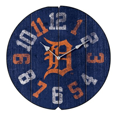 Detroit Tigers Imperial Round Vintage Wall Clock