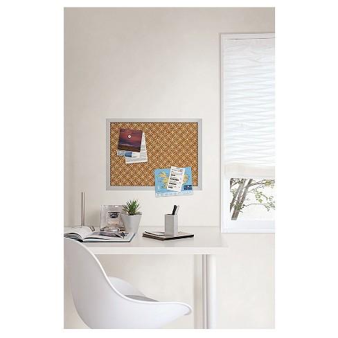Wall Pops! ® Cork Bulletin Board White Frame 23.5\