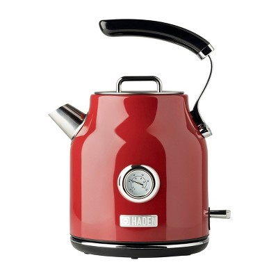 Haden Dorset 1.7L Stainless Steel Electric Kettle - Red