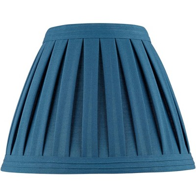 Springcrest Deep Blue Teal Linen Box Pleat Empire Lamp Shade 7x14x11 (Spider)