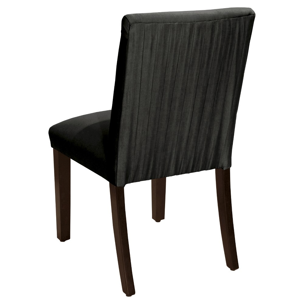 Luisa Pleated Dining Chair Black Faux Silk - Cloth & Co.