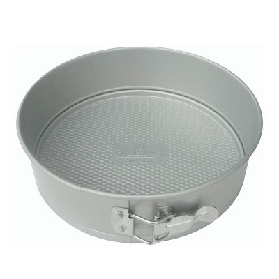 Paderno Professional Springform 9 Inch Nonstick Form Mold Pan Dish with Removable Bottom for Cheesecake, Cake, or Pie Kitchen Oven Baking (Aluminum)