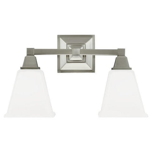 Sea Gull Lighting Denheim Two Light Bath Sconce - Brushed Nickel - image 1 of 2