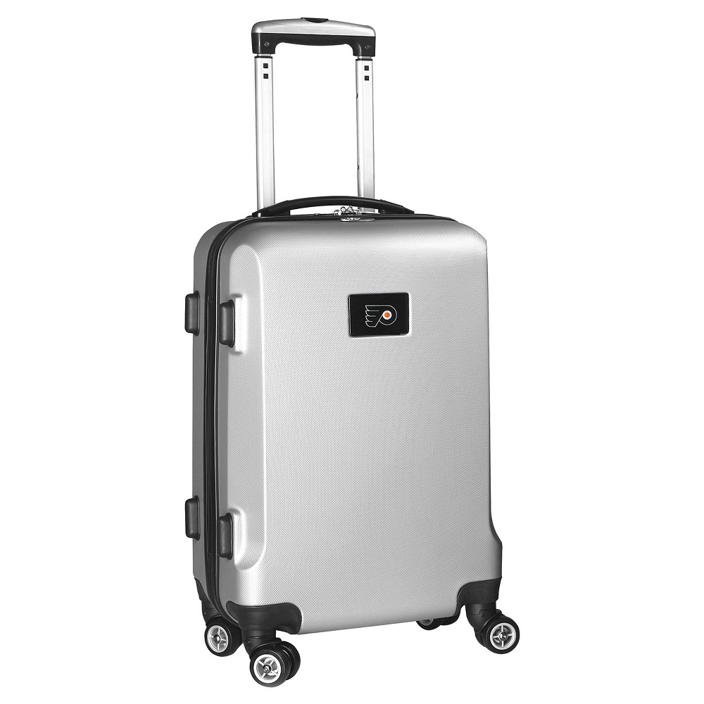 NHL Mojo Philadelphia Flyers Hardcase Spinner Carry On Suitcase - Silver