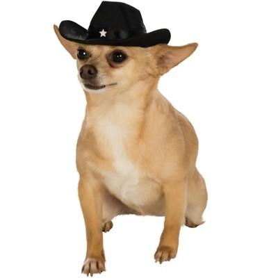 Rubies Black Cowboy Hat for Pets