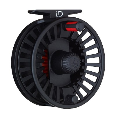 Redington iD Smooth Strong Drag Customizable Aluminum Large Line 7/8/9 Fly Fishing Reel with Nylon Case, Black