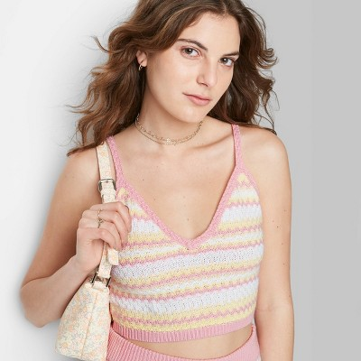 Women's Cropped Sweater Tank Top - Wild Fable™