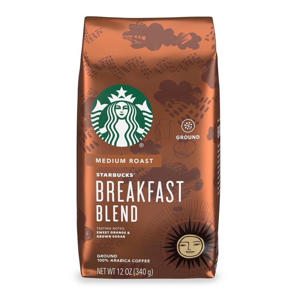 Starbucks Breakfast Blend Medium Roast Ground Coffee 12oz
