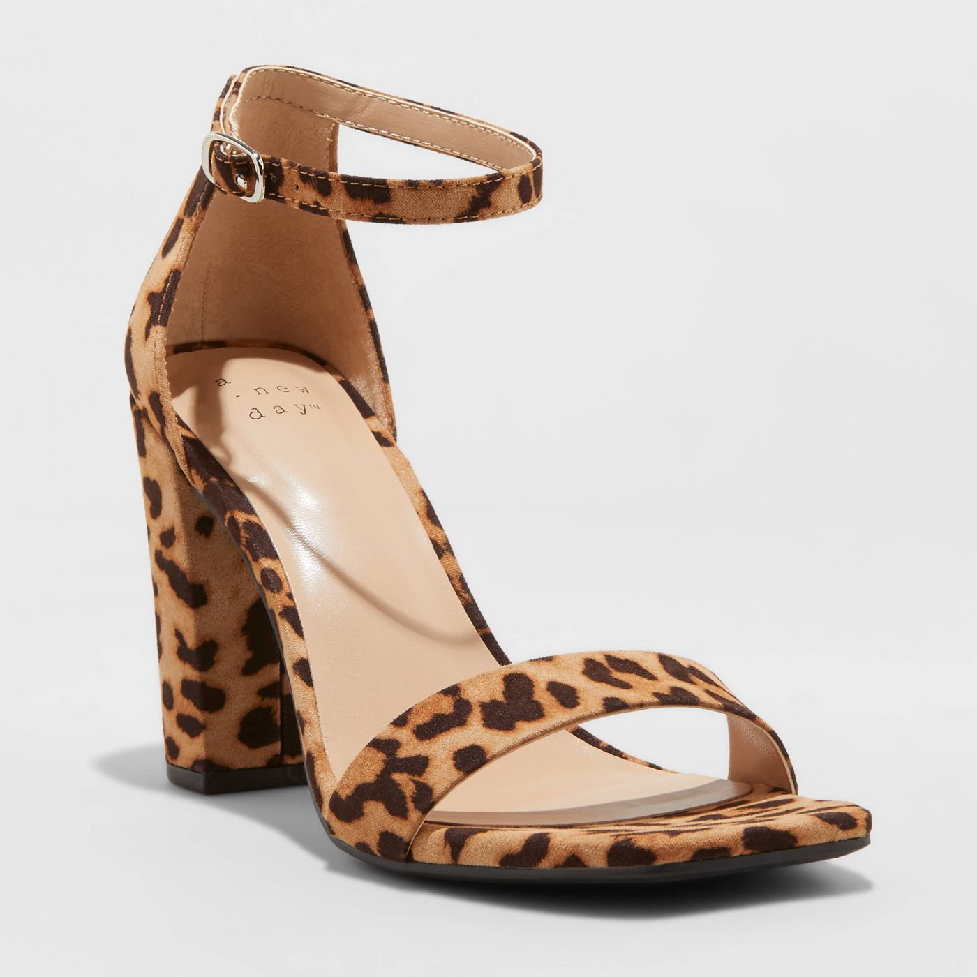 Women's Ema High Block Heeled Square Toe Pumps - A New Day™ - image 1 of 7