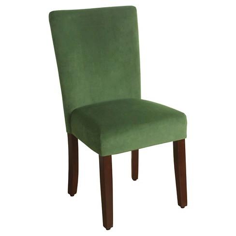 Parsons Dining Chair Velvet Green