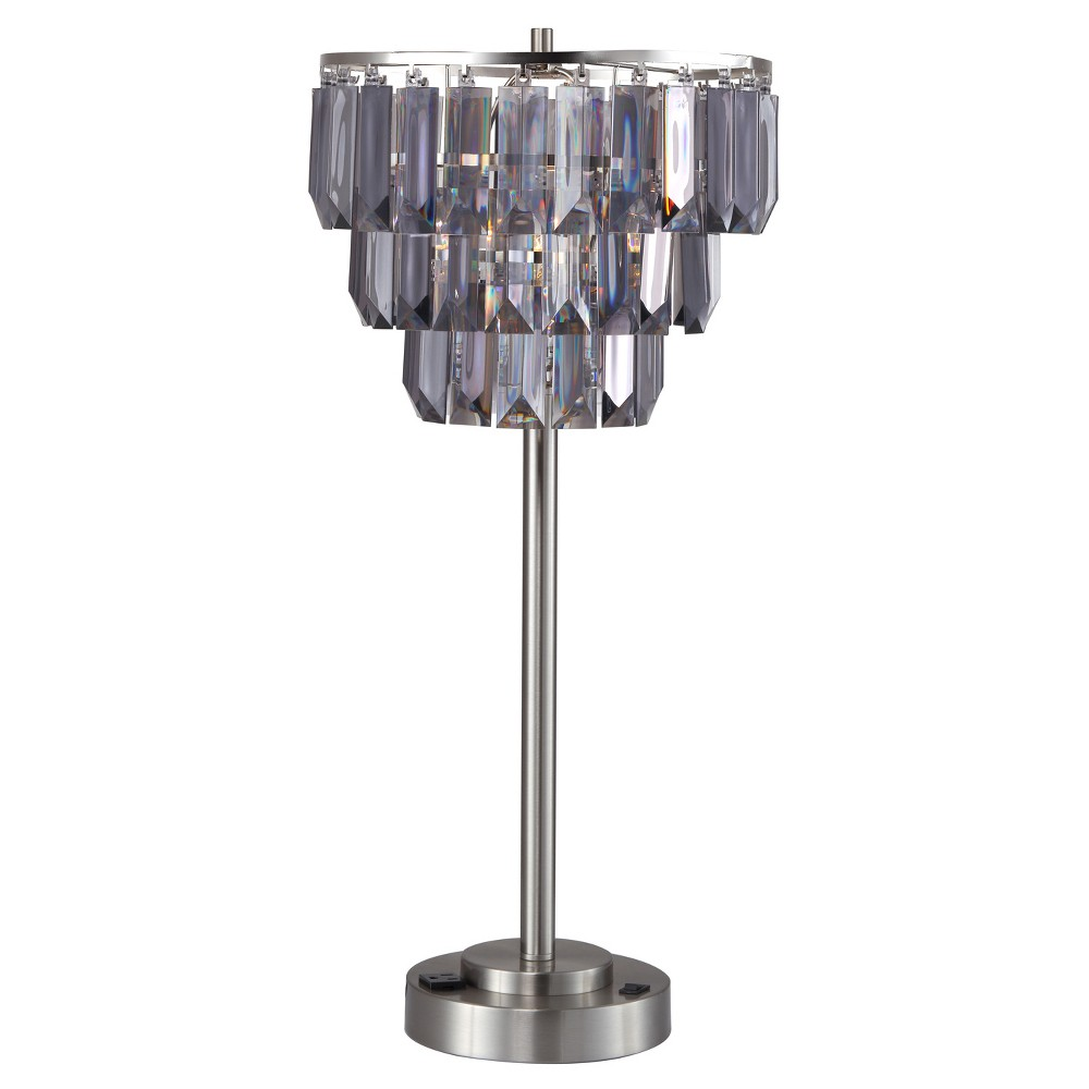 "Image of ""24"""" Table Lamp Silver (Lamp Only) - Home Source"""