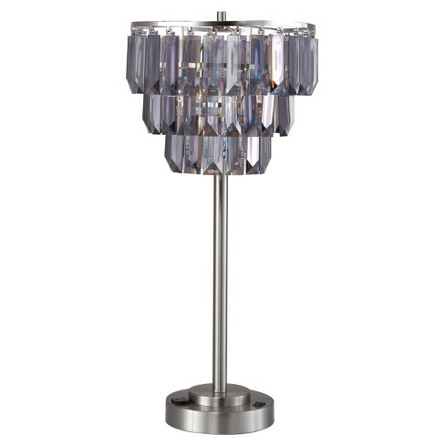"24"" Table Lamp Silver  - Home Source - image 1 of 3"