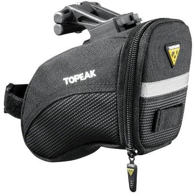 Topeak Aero Wedge Seat Bag: QuickClick, Small, Black