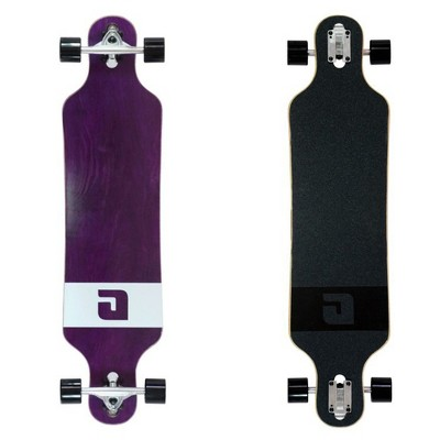 MBS 40014 Atom Drop Through 40-Inch Maple Longboard Skateboard Cruiser, Purple Veneer