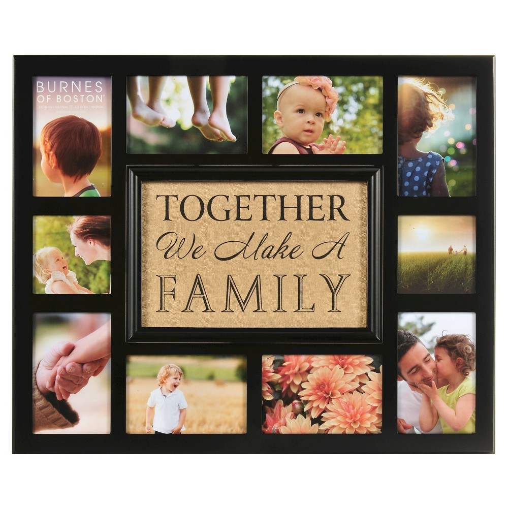 "Image of ""Burnes of Boston Multiple Picture Frame - Brown (3X5"""")"""