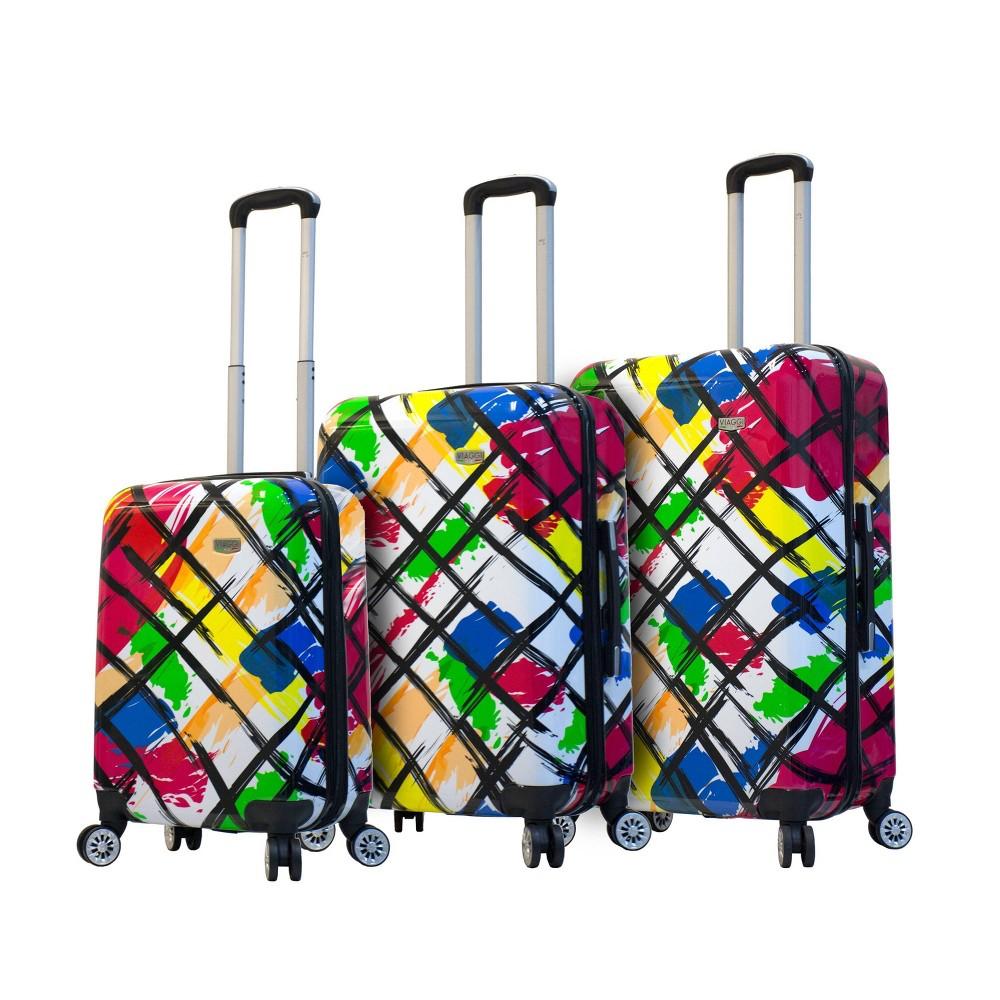 Mia Viaggi Italy 3pc Hardside Luggage Set - Pop Brush, Multi-Colored
