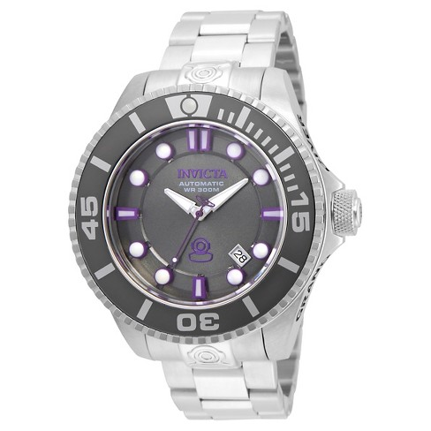 Men's Invicta 19801 Pro Diver Automatic 3 Hand Charcoal Dial Watch - Silver - image 1 of 1