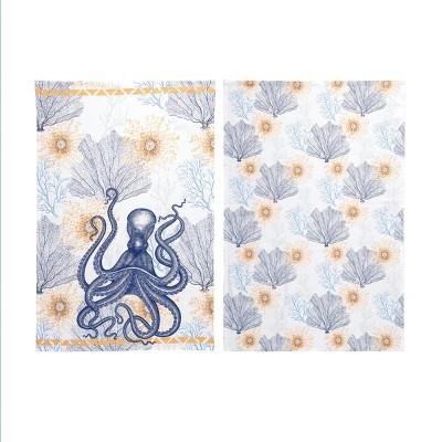 C&F Home Ochre Octopus Kitchen Towel Set of 2