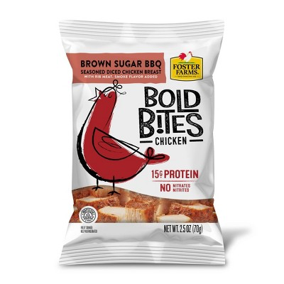 Foster Farms Bold Bites Brown Sugar BBQ Diced Chicken - 2.5oz