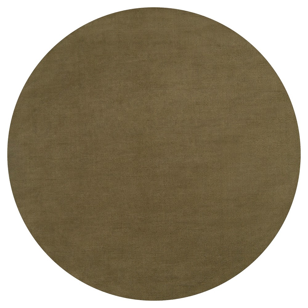Green Solid Loomed Round Area Rug - (8' Round) - Surya