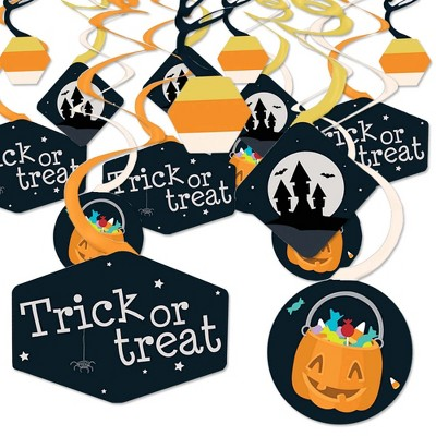 Big Dot of Happiness Trick or Treat - Halloween Party Hanging Decor - Party Decoration Swirls - Set of 40