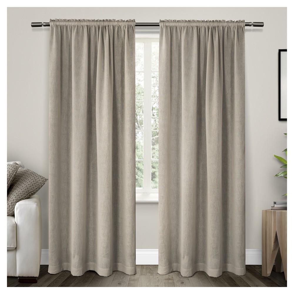 Belgian Sheer Window Curtain Panel Pair Stone (Grey) (54