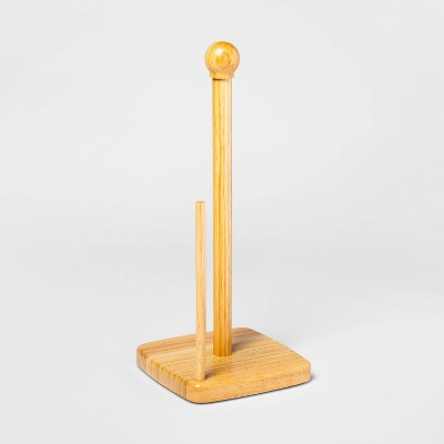 Rubberwood Paper Towel Holder Brown - Threshold™