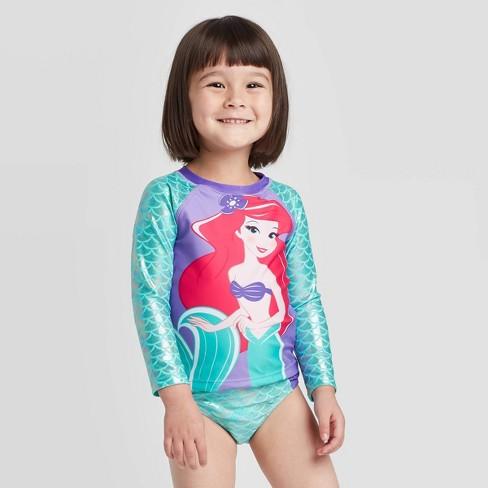 Toddler Girls The Little Mermaid Ariel Rash Guard