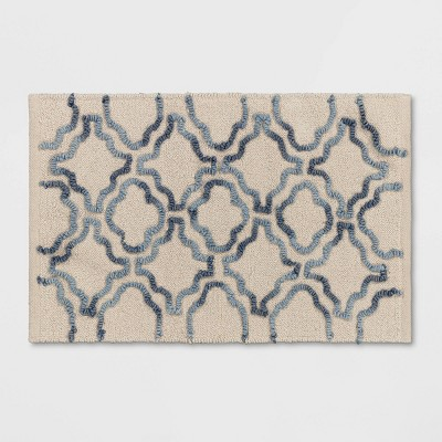 Bath Rug Stonewash Navy/Cream - Threshold™