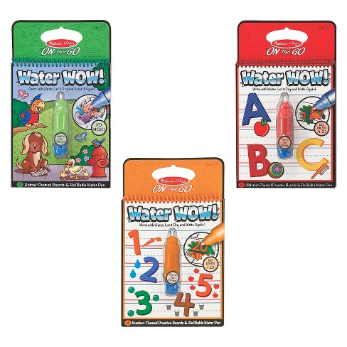 Melissa & Doug® On The Go Water Wow! Activity Book, 3-Pack - Animals ...