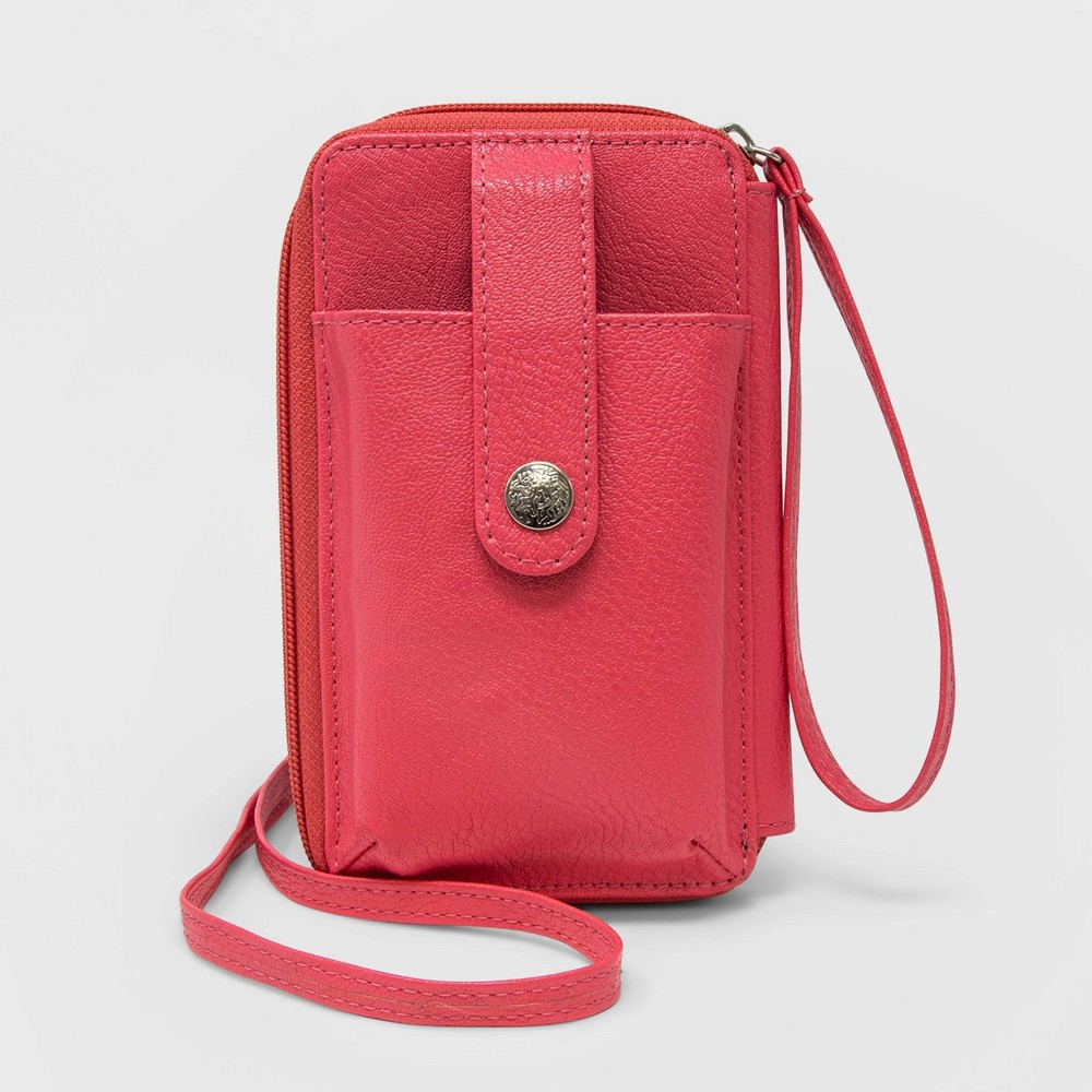 Image of Stella & Max Women's Convertible Cell Phone Wallet With Phone Charging Battery - Pink