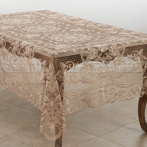 Saro Lifestyle Tablecloth With Vintage Lace Design - image 1 of 3