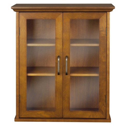 Avery Wall Cabinet Oil Oak Brown - Elegant Home Fashions - image 1 of 4