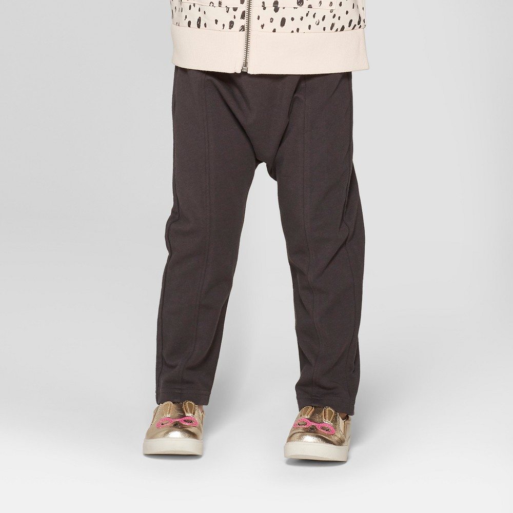 Toddler Girls' Jogger Pants - Cat & Jack Essential Gray 2T