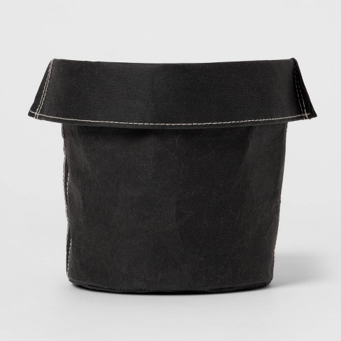 Round Washable Paper Basket Black/Charcoal - Project 62™ - image 1 of 3