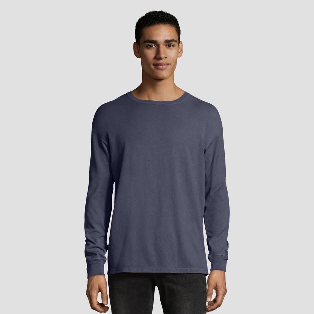 Hanes 1901 Men S Long Sleeve T Shirt Slate L