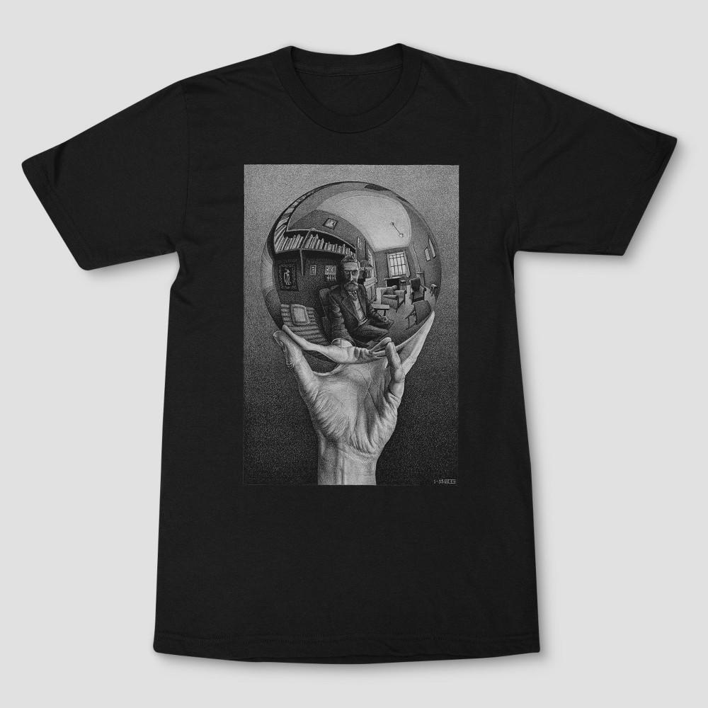 Men's M.C. Escher Short Sleeve Graphic T-Shirt - Black 2XL