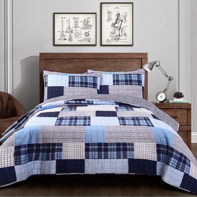 3pc Greenville Quilt Set - Lush Décor