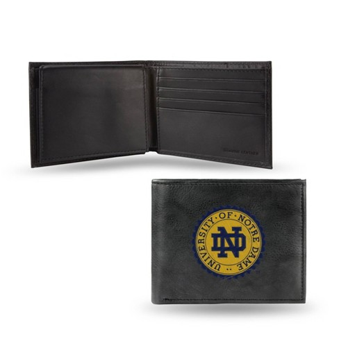NCAA Notre Dame Fighting Irish Embroidered Genuine Leather Billfold Wallet - image 1 of 1