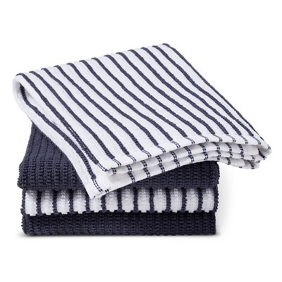 Blue Stripe Bar Mop Kitchen Towel (4 Pk)- Room Essentials™
