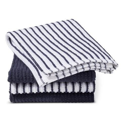 Blue Stripe Bar Mop Kitchen Towel 4 Pk Room Essentials