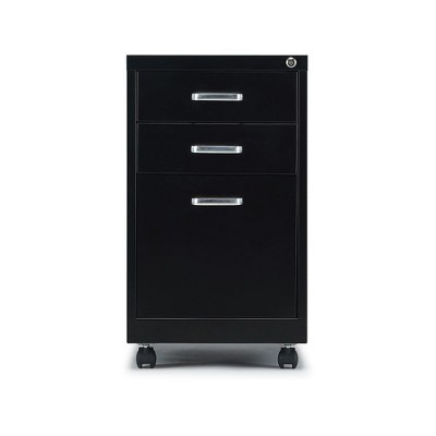 "Staples 3-Drawer Vertical File Cabinet Locking Letter Black 19""D (52156) 2806766"