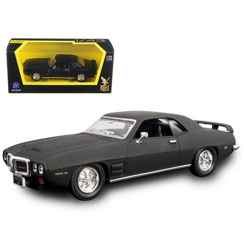 1969 Pontiac Firebird Trans Am Matt Black 1/43 Diecast Model Car by Road Signature - image 1 of 1