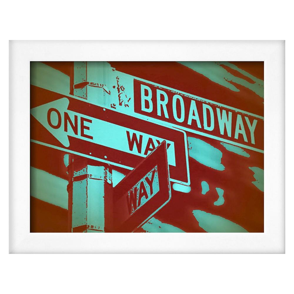 Art.com New York Broadway Sign, Brown
