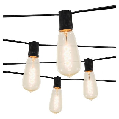 10 Light Spiral Filament String Lights with Black Wire™ - Smith & Hawken™