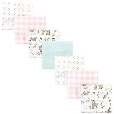 Hudson Baby Unisex Baby Cotton Flannel Receiving Blankets Bundle - Enchanted Forest One Size