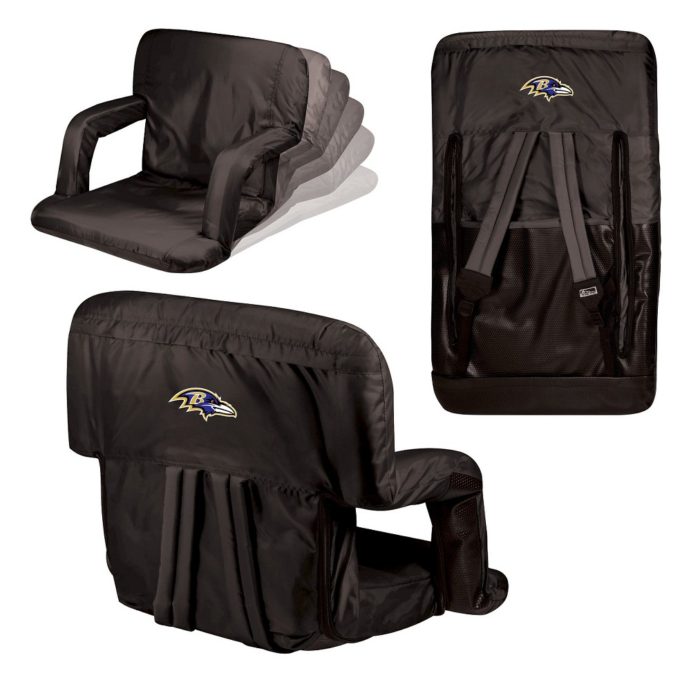Baltimore Ravens Ventura Seat Portable Recliner Chair by Picnic Time