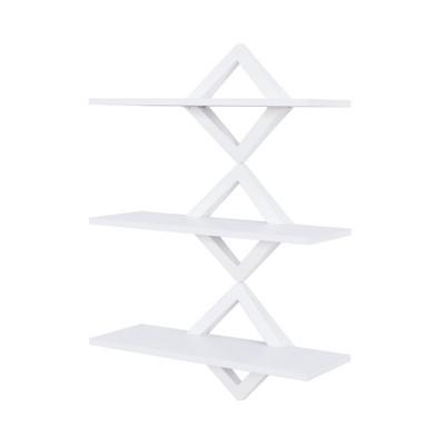 40  x 27.5  Three Tier Diamonds Shelving System White - Danya B.