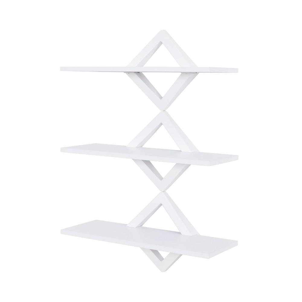 40 X 27 5 Three Tier Diamonds Shelving System White Danya B